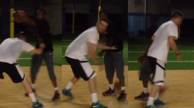 Vine of the Day: White boy can't play D against Pat The Roc