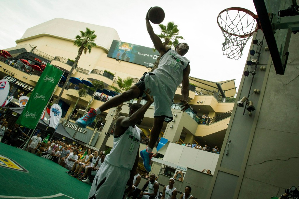 Kwame, Baby LeBron, Young Hollywood & Staples at LA Sprite dunk contest