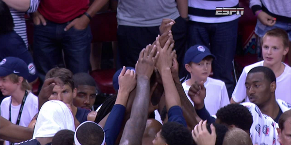Paul George suffers a serious leg injury during USA Basketball Game