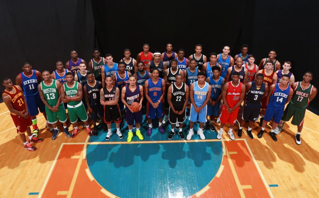 Wiggins, LaVine & NBA Rookies show off their best dunks, kicks & tricks at Rookie Photo Shoot