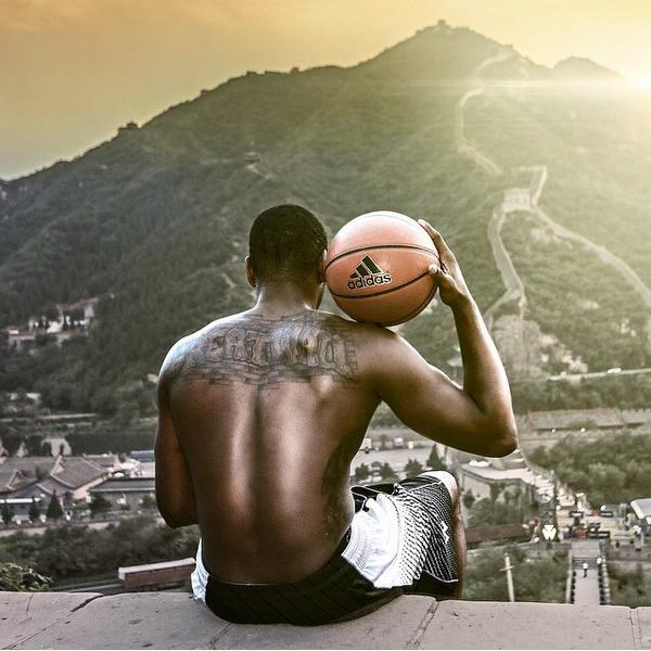 John wall shows off his great wall tattoo does the for Off the wall tattoo