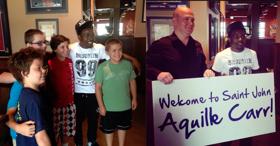 Aquille Carr signs with the Saint John Millrats & meets fans in Canada