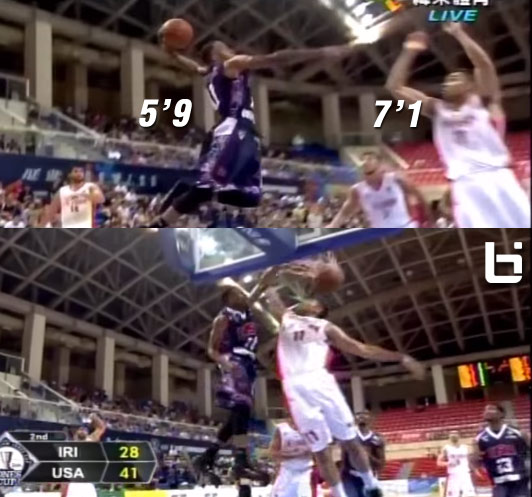 5'9 James Justice dunks on 7'1 player in Taiwan @ 2014 Williams Jones Cup