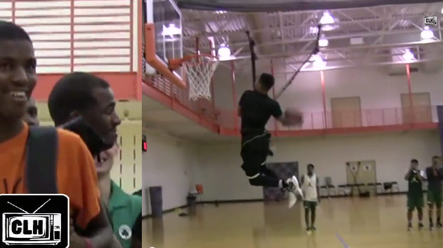5'11 Keifer Sykes impresses Chris Paul with his 44.5 inch vert & variation of the self alley-oop windmill dunk