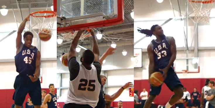 Best Dunks from the USA basketball training camp