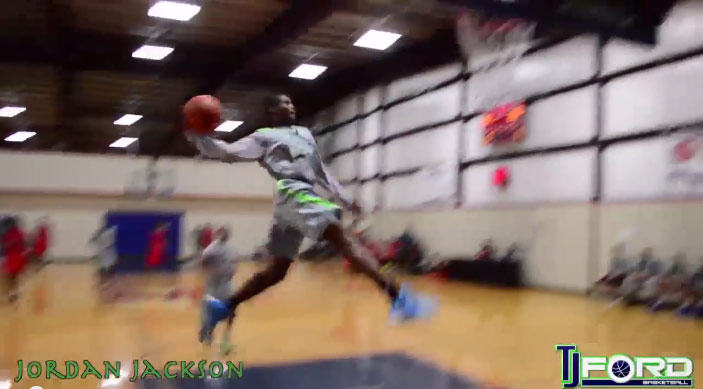 Jordan Jackson (son of Sheryl Swoopes) taking flight in Vegas