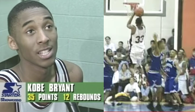 16-Year-Old Kobe Scores 29 Of His 35 points In The 2nd Half Of A Comeback Victory