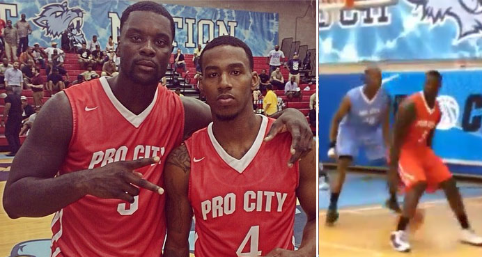 Lance Stephenson shows off his sick handles & goes for 47/8/8 at Nike Pro City
