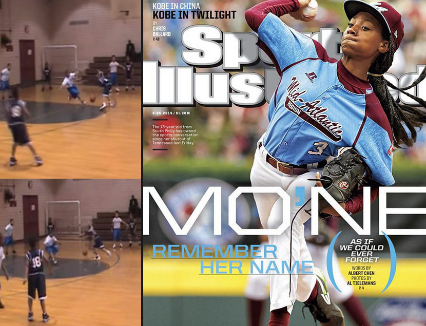13 year old Mo'Ne Davis from Philly does her best Iverson impersonation