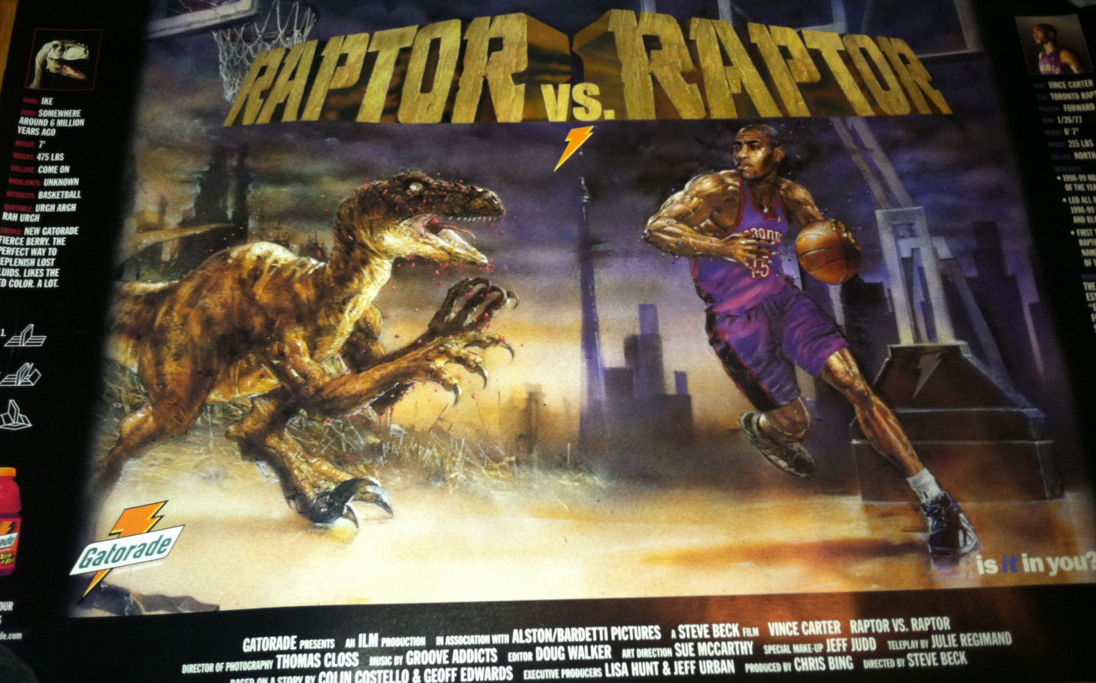 Ebay Finds: Barkley vs Godzilla, Vince vs Raptor, Doug Christie T & more