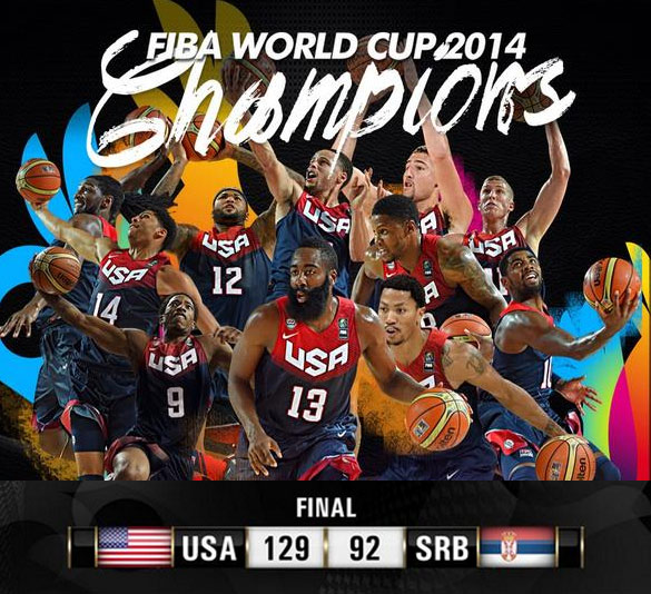 Team USA crushes Serbia by 37 behind 26 by Kyrie Irving | Harden doesn't play D & Rose doesn't Dance
