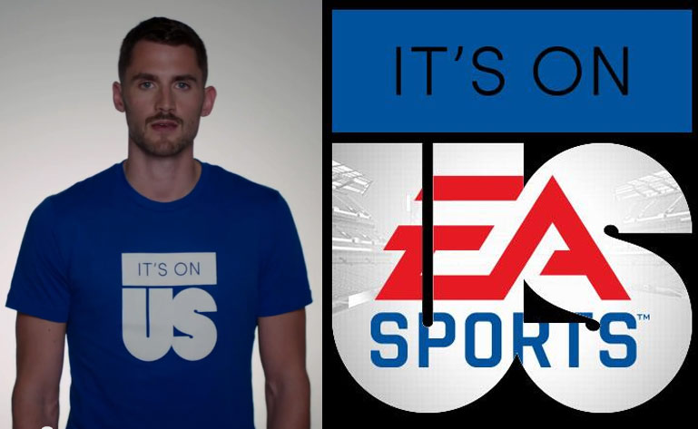 """Kevin Love, NCAA & EA Sports participate in White House Campaign """"It's On Us"""" to prevent campus sexual violence"""