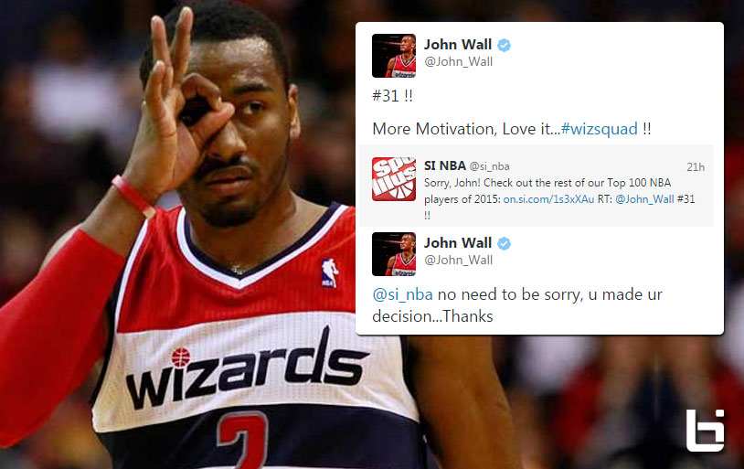John Wall doesn't accept Sports Illustrated's apology for ranking him #31 in the NBA