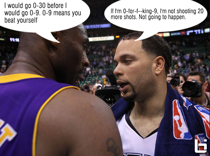 Deron Williams responds to Kobe: If I'm 0 for f**king 9, I'm not shooting 20 more shots