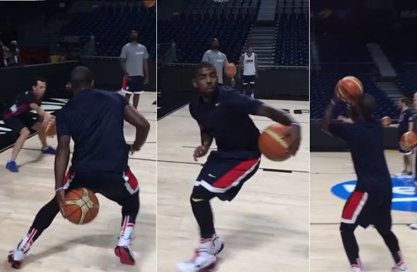 Kyrie Irving shows off his handles and soccer skills in USA practice