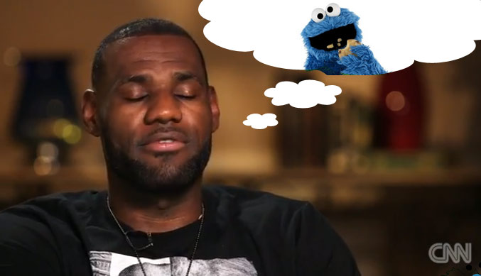 LeBron talks about his 67 day diet, missing pancakes & the cookie monster chasing him in his dreams