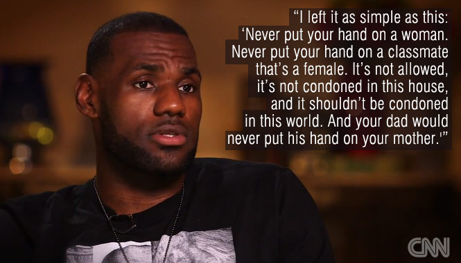CNN Interview: LeBron talks about racism, Ray Rice & the father he never knew