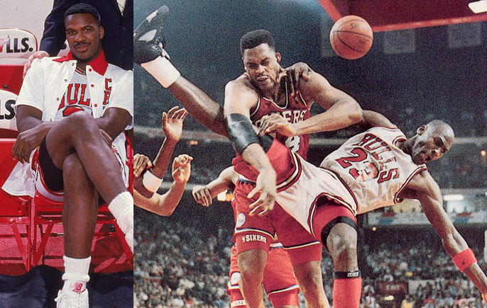 80s Fight: Charles Oakley & Rick Mahorn Fight After Hard Foul on Michael Jordan