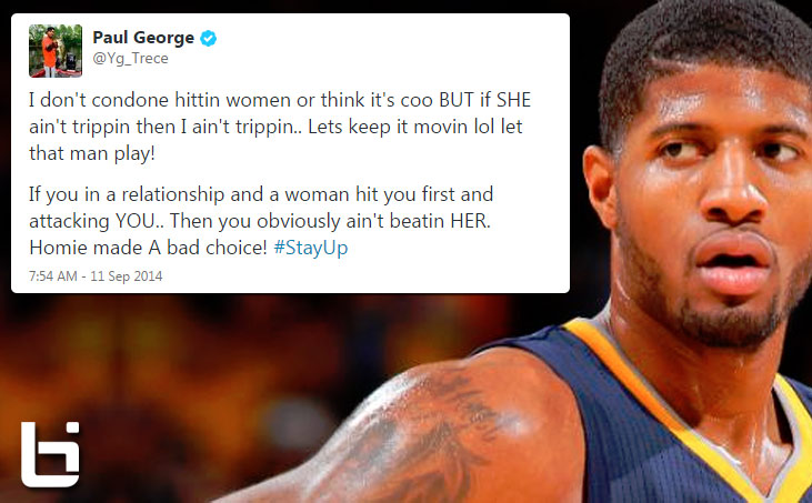 Paul George ignites social media firestorm after defending Ray Rice