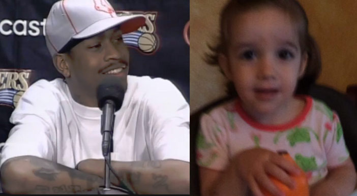 "Cute little girl does her best Allen Iverson impersonation ""Practice!"""
