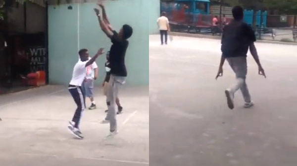 """Nick Young surprises """"lil hoopers"""" in NY and plays in their pick-up game"""