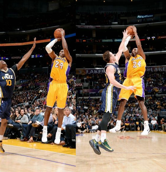 Kobe scores 26 points in comeback victory over the Jazz