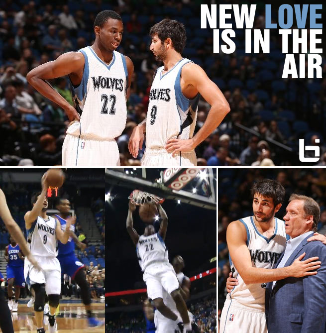 Rubio & Andrew Wiggins connect on their first alley-oop