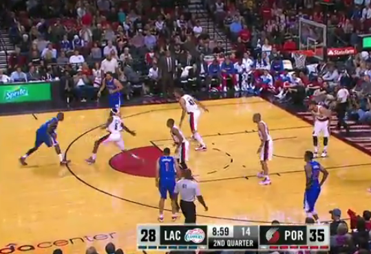Jamal Crawford's crossover & 3 vs the Blazers | Stares at Blazers' bench