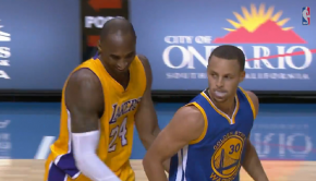 Kobe Gives Curry Respect After Draining Long Three   YouTube