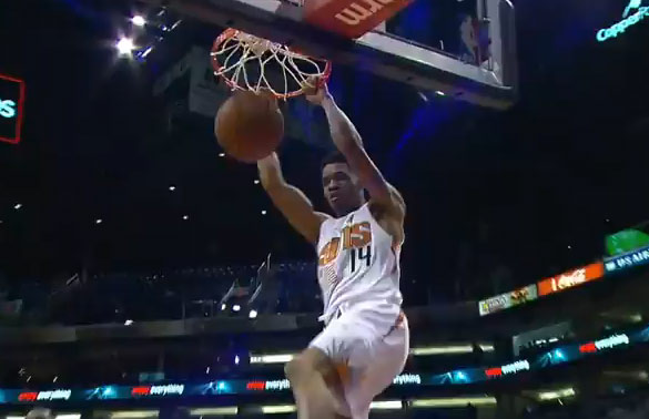Gerald Green easy dunk against the Nuggets