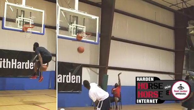 James Harden beats Internet challengers in a game of HORSE