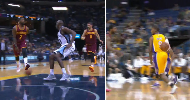 Pass of the night: Kyrie Irving between the legs -or- Ronnie Price behind the back?