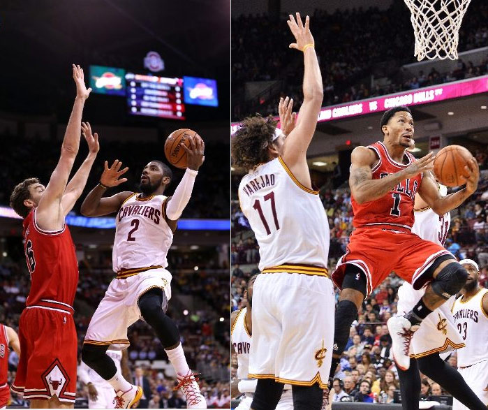 Derrick Rose scores 30 in 24 minutes against Kyrie Irving (28pts) and Cavs