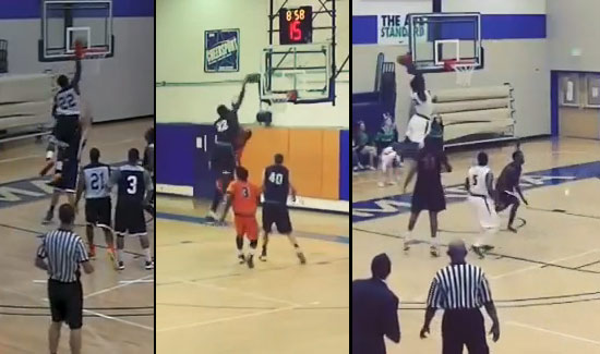 Ave Maria University's Wendell Powell has explosive hops