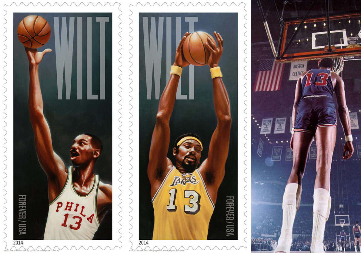 Wilt Chamberlain will have his own stamps Public Enemy would be proud