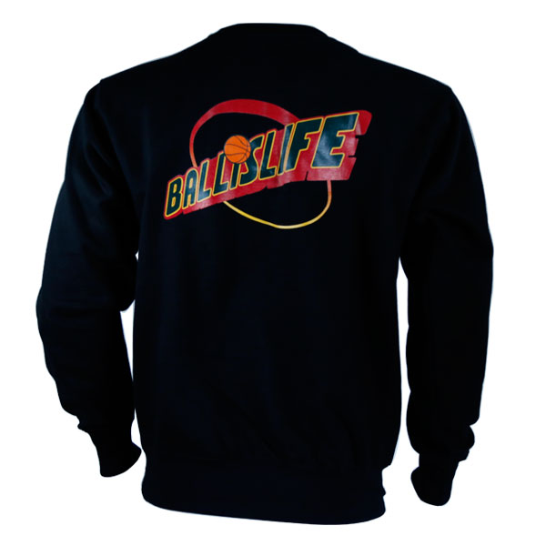 Ballislife Store | Back of Throwback Sonics Crewneck