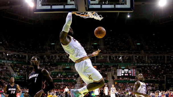 LeBron sets pick for his former teammate | Best Vids & Pics from Heat/Cavs OT game in Brazil