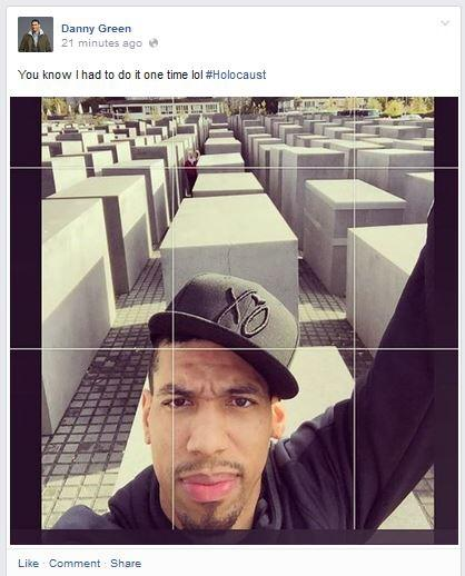 "Danny Green apologizes for ""Holocaust Selfie"""