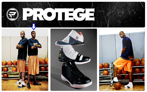 Stephen Jackson shows off his Sneaker