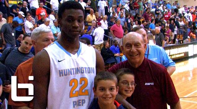 Ballislife | Andrew Wiggins Domaintes in front of Dick Vitale