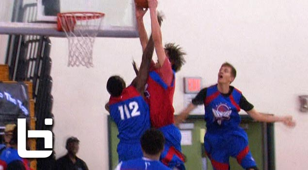 Ballislife | Stephen Zimmerman Dunks on Defender at Pangos Camp