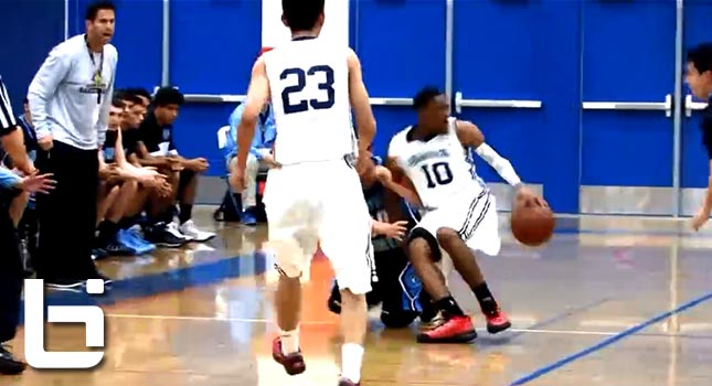 Marcus Lovett Jr Ridculous crossover to spin while falling down