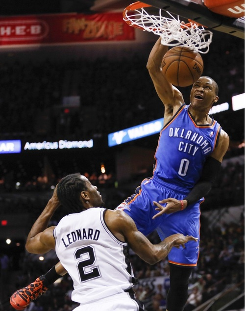 NBA: Playoffs-Oklahoma City Thunder at San Antonio Spurs