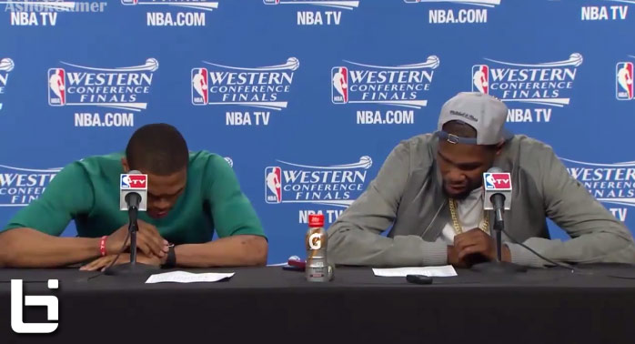 Kevin Durant Russell Westbrook Postgame Interview Ballislife Com