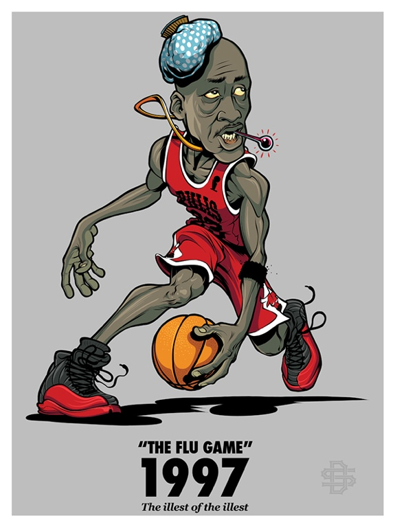 Michael Jordan T shirt; 1997 Michael Jordan Flu Game Air Jordan 12 Tee shirt